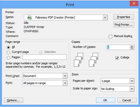 Fabreasy PDF Creator (Printer)